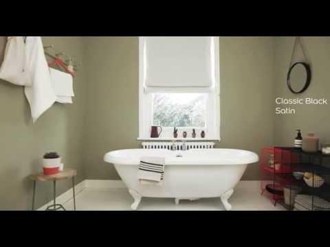 Bathroom Ideas: Using olive green - Dulux