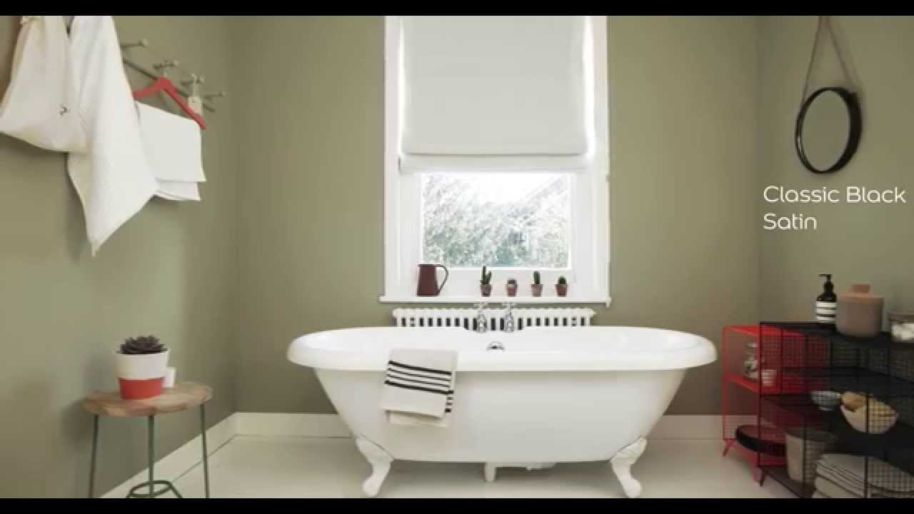 White Bathroom Paint Dulux bathroom ideas: using olive green - dulux - youtube
