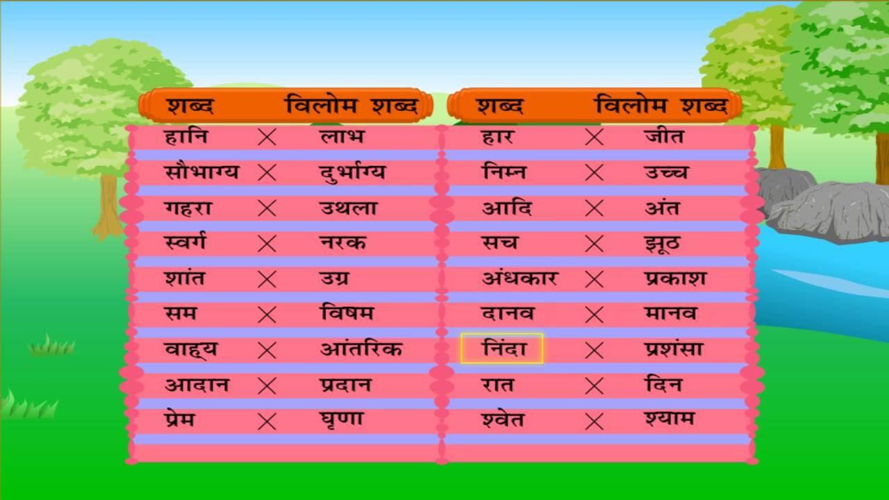 hindi paryayvachi shabd list pdf