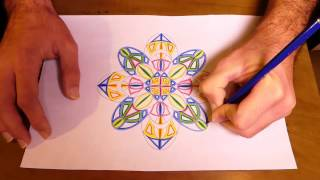 How To Draw Psychedelic Mandala | Kaleidoscope Painting