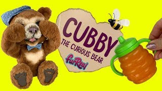 FurReal Friends Cubby The Curious Bear!  What Can This Teddy Bear Do? - Interactive Plush Toy
