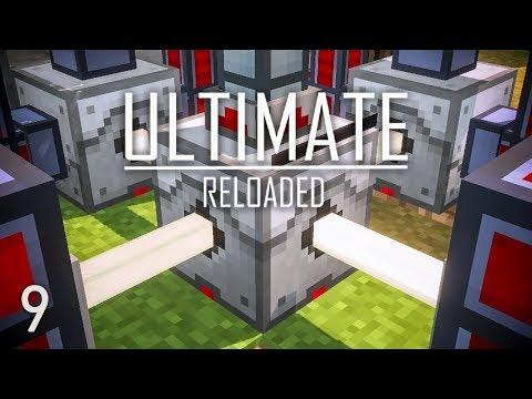 FTB Ultimate Reloaded Modpack Ep. 9 Mining Laser + Lava Power