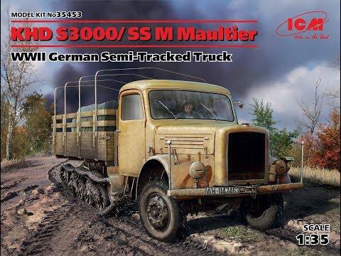 35453 ICM 1/35 Германский полугусеничный грузовой автомобиль KHD S3000/SS M Maultier
