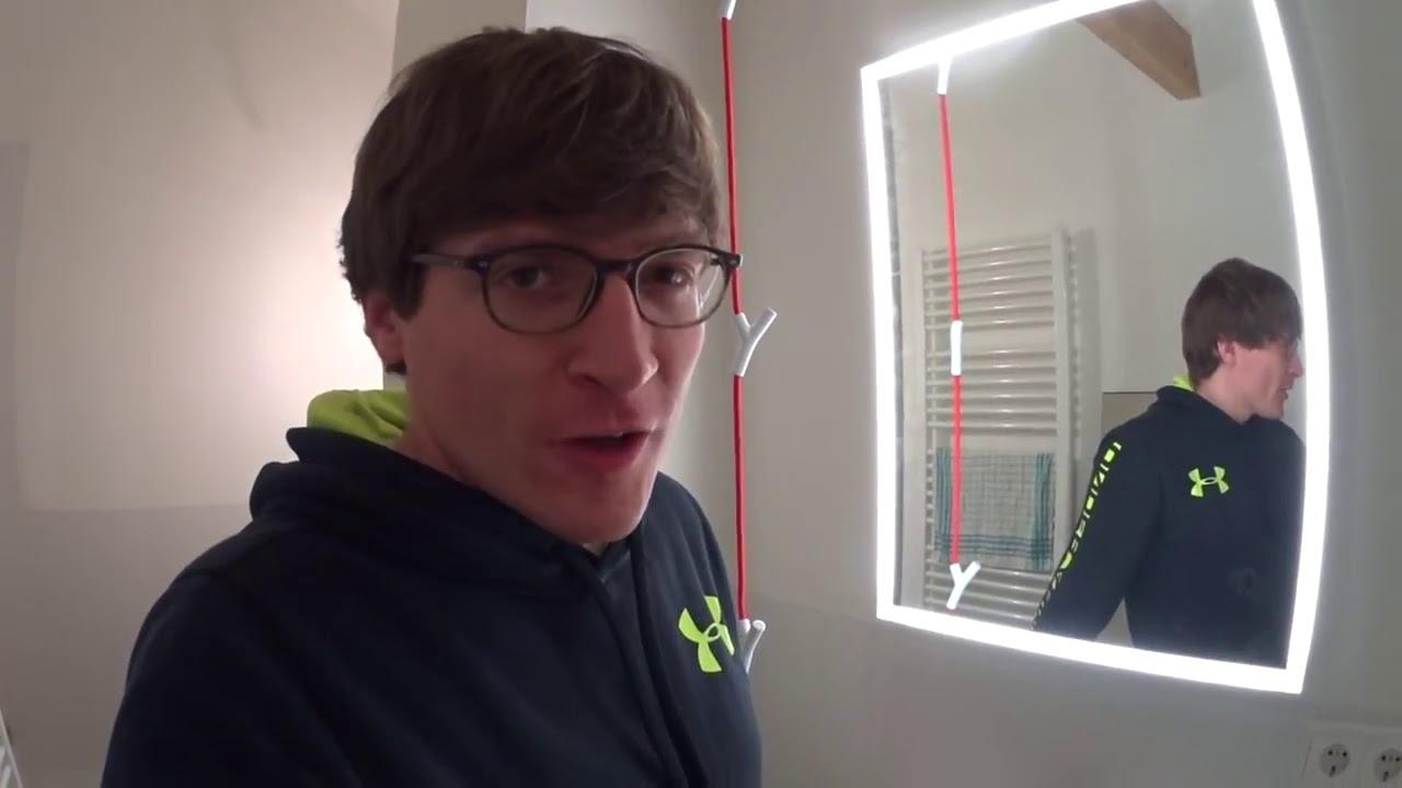Badspiegel Montieren Mybadspiegel Com Erfahrungsbericht Youtube