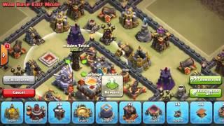 Town Hall 11 War Base Trophy Base December Update Clash of Clans (Grand Warden + Eagle Art