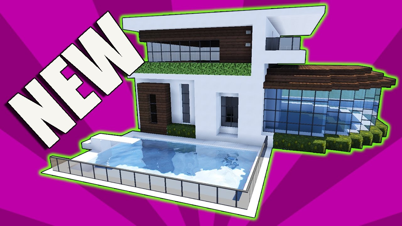 Minecraft how to build a small modern house tutorial for How to build a small house step by step