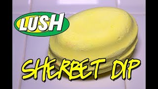LUSH - SHERBET DIP 🍋 Bath Bomb CHRISTMAS 2017 DEMO & REVIEW Underwater View