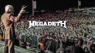 Megadeth in Bogota, Colombia - Black Sabbath, Megadeth Tour 2013