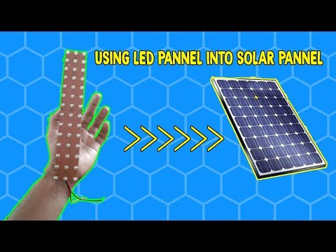 USING LED PANEL INTO MINI SOLAR PANEL | CREATIVE BEINGS