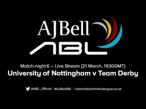 AJ Bell National Badminton League LIVE: University of Nottingham Badminton v Team Derby