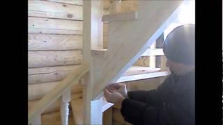 Изготовление Деревянной лестницы видео.(Как изготовить деревянную лестницу самостоятельно., 2012-03-04T18:49:54.000Z)