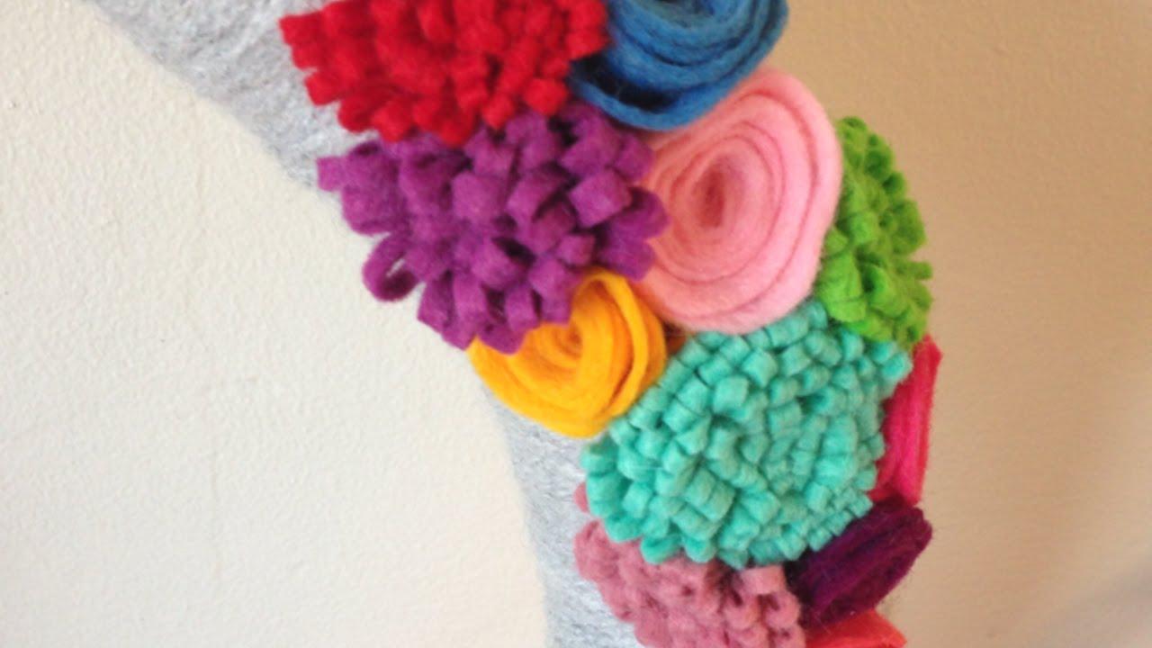 Como hacer flores de fieltro coloridas de forma f cil - Material para hacer diademas ...