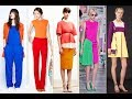 Mix and match colours to create stylish outfits 2018