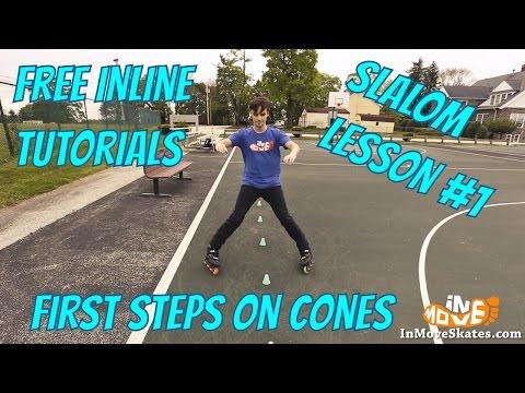 Beginner slalom on inline skates - lesson 1