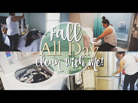 ULTIMATE CLEAN WITH ME FALL 2018 / ALL DAY CLEANING ROUTINE / CLEANING MOTIVATION