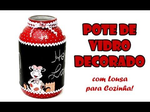 Resultado de imagem para imagens Pote de Vidro Decorado com Lousa para Cozinha ( ARTESANATO, DIY, RECICLAGEM )