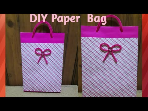 How to make paper gift bag / DIY paper bag