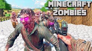 MINECRAFT ONE WINDOW ZOMBIES CHALLENGE! (Custom Zombies)