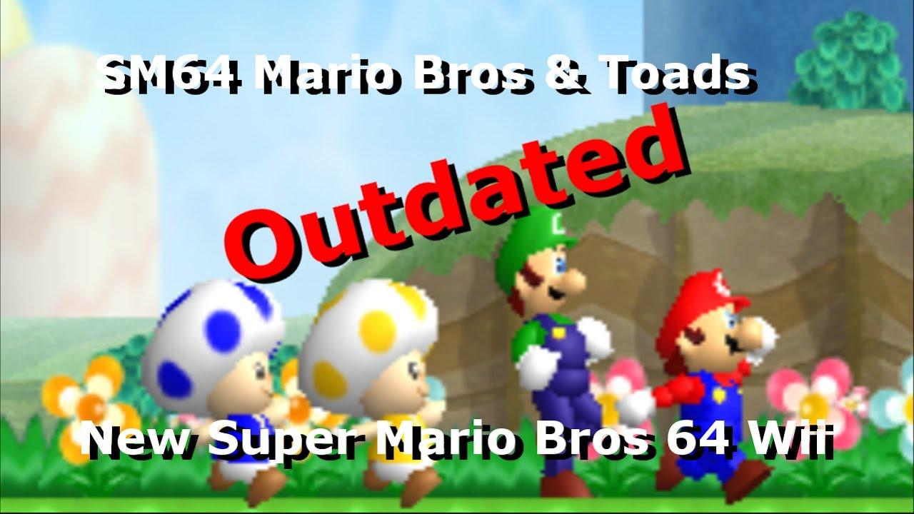 (DMCA-ed by Nintendo) SM64 Mario Bros & Toads [NSMBW Mod Preview]