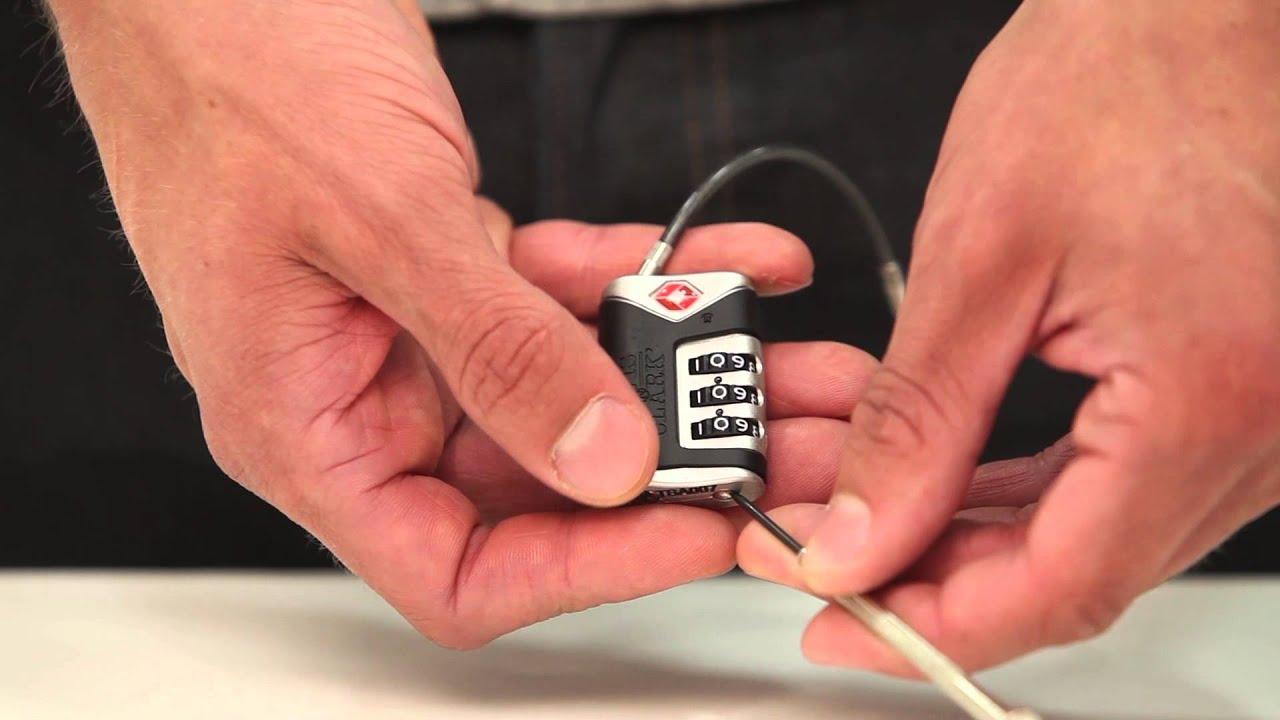How to set up Luggage Locks – Luggage Factory