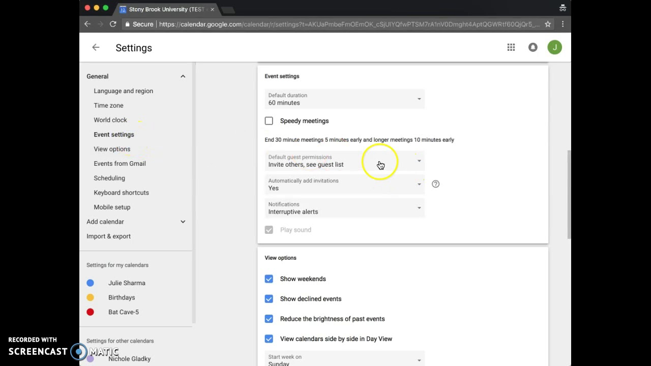 New Google Calendar General Settings: Default Guest Permissions & New View  Settings