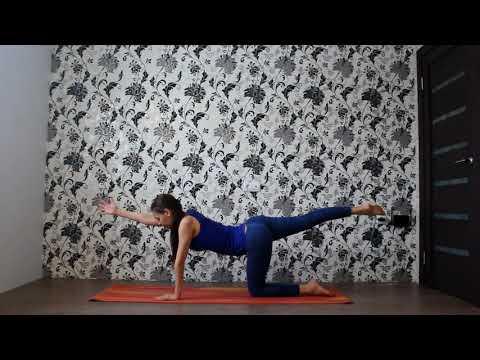 Йога для укрепления мышц спины, шеи, рук.