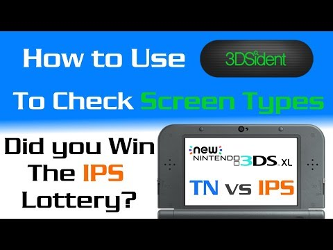 """3DS Screen Lottery! - How to Determine """"TN"""" or """"IPS"""" Display - Did you Win? - 3DSident Homebrew"""