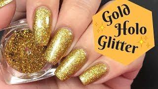 ✨ Gold Glitter Nail Tutorial! (Burning Technique)  ✨