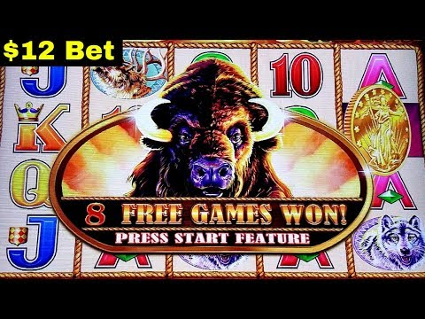 5c Buffalo Gold $12 Bet Bonus Won | LIGHTING LINK Slot Machine GREAT SESSION | Live Slot Play