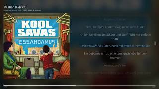 Triumph - Kool Savas feat. Sido, Azad & Adesse | Lyrics