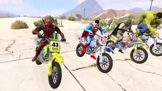 video para criança - corrida de moto de super heróis - desenho para criancinhas - jogo p