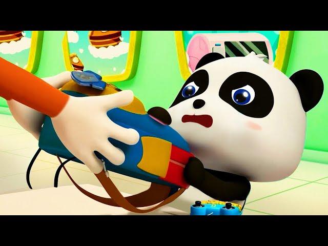 Panda Kiki Can't Get His Bag | Magical Chinese Characters | Baby Panda's Magic Bow Tie | BabyBus