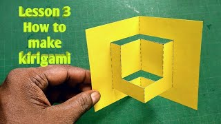 Lesson 3   How to make kirigami   gift card /paper cutting art   pop up card making   rainbow art