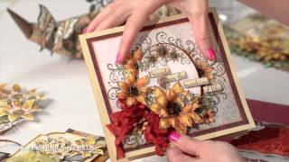 Classic Sunflower Card Making Techniques & Flower Shaping - Heartfelt Creations