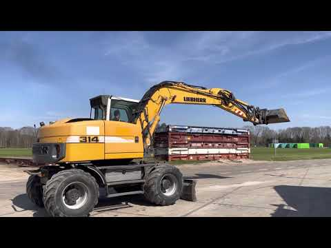 Used heavy machinery Liebherr A314 Litronic Mobilbagger