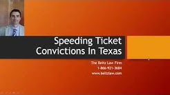 What Happens If A Speeding Ticket Goes On Your Record In Texas