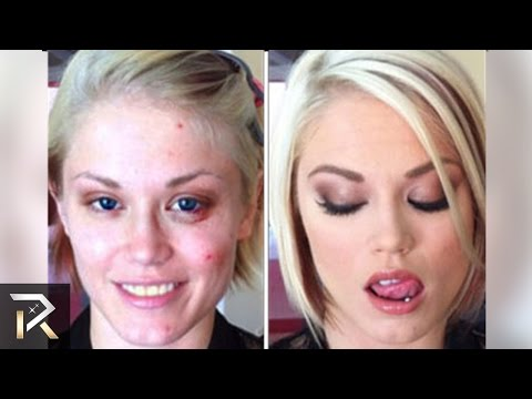 Famous ADULT Film Stars Before Makeup