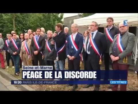 19/20 France 3 : manifestation pour la réalisation du barreau de contournement de l'A4