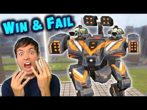 My Worst Games - WIN & FAIL - Intense War Robots Gameplay WR