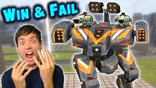 My Worst Games - WIN & FAIL - Intense War Robots Gameplay WR
