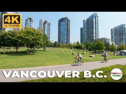 Vancouver B.C. City Walking Tour in 4K - 12.5 Miles/20Km