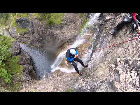 Fun-Rafting - Jumping Jack - Canyoning Im Lechtal / Reutte / Tirol / Österreich