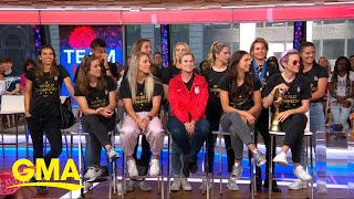 Megan Rapinoe and Alex Morgan talk World Cup victory l GMA