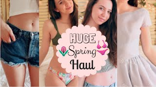 HUGE Try On Spring Haul 2016 | Brandy Melville, Vintage, Victoria's Secret, Urban Outfitters & MORE!