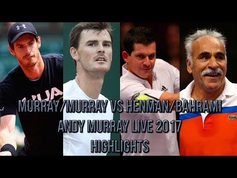 Murray/Murray Vs Henman/Bahrami - Andy Murray Live 2017 (Exhibition Highlights HD)