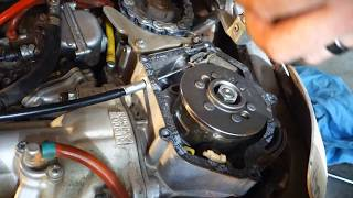 Yamaha YZ250 - Clutch Cable Installation