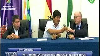 Presidente Evo Morales se Reunio con Empresa Petrolera REPSOL y Dice que Sobra GAS
