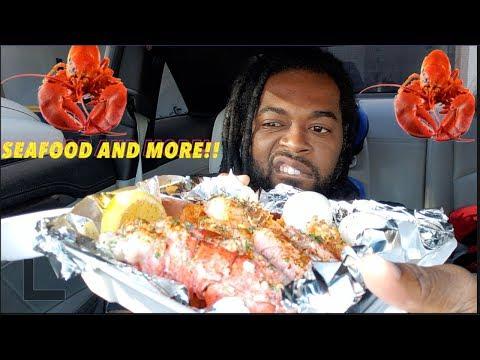 seafood-mukbang!-lobster-tail,-crab,-shrimp-and-more!-food-review asmr