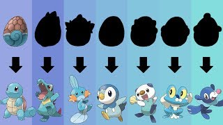 Pokemon Eggs Requests #5: All Water Type Starters Gen 1 to 7