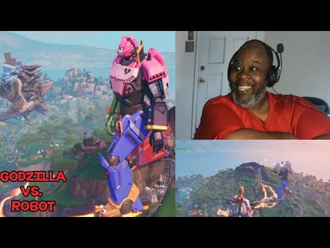 Dad Reacts to ROBOT VS. GODZILLA (World Wide Fortnite Event)